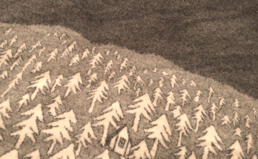 """""""House in the forest""""。クリッパンとミナペルホネンのブランケット。"""
